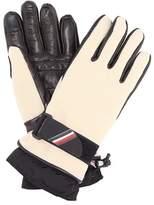 Moncler Leather-trimmed ski gloves