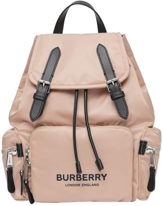 Burberry Medium Logo Buckled Rucksack