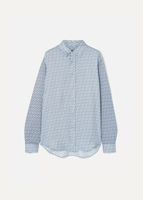 Burberry - Printed Mulberry Silk-twill Shirt - Blue