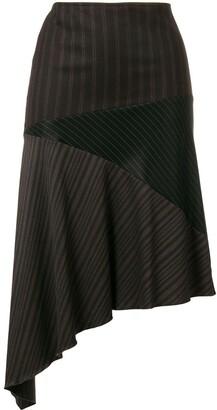 Romeo Gigli Pre Owned Asymmetric Draped Skirt