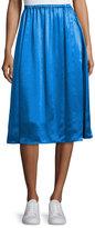 Acne Studios Sabina Satin A-Line Skirt, Blue