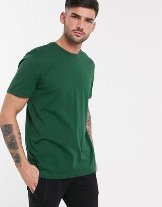 New Look crew neck t-shirt in dark green