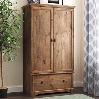 Three Posts Orviston Armoire Color: Vintage Oak