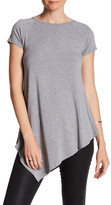 Joan Vass Raglan Short Sleeve Asymmetrical Tunic