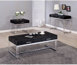 Mercer41 Maxwell 3 Piece Coffee Table Set Mercer41