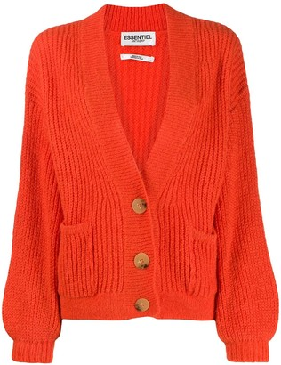Essentiel Antwerp button-down chunky knit cardigan
