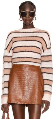 Acne Studios Karalynn Alpaca Sweater in Old Pink & Multi   FWRD