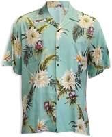 Hawaiian Aloha Fashions Ocean Teal Hawaiian Shirt