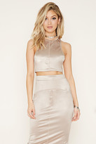 Forever 21 Rehab High-Neck Crop Top