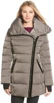Vera Wang Asymmetrical Zip Quilted Coat