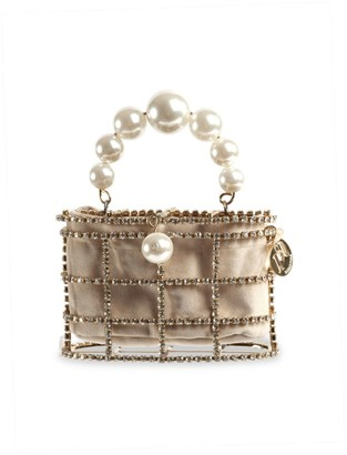 Rosantica Mini Holli Embellished Top Handle Clutch