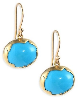 Annette Ferdinandsen 18k Gold and Turquoise Drop Earrings