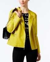 Alfani Petite Faux-Leather Moto Jacket, Only at Macy's