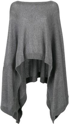 Le Kasha Vienne cashmere draped jumper