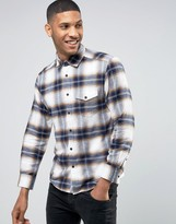 Esprit Regular Fit Long Sleeve Check Flannel Shirt