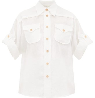 Zimmermann Safari Patch-pocket Voile Shirt - Womens - Ivory