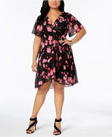 INC International Concepts I.n.c. Plus Size Printed Wrap Dress, Created for Macy's