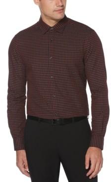 Perry Ellis Men's Regular-Fit Gingham Check Twill Shirt