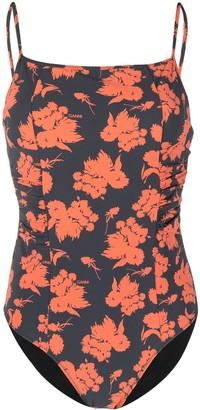 Ganni Floral-Print Swimsuit