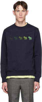 Paul Smith Navy Zebras Regular Fit Sweatshirt