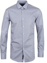 Boss Jenno Blue & White Patterned Long Sleeve Shirt