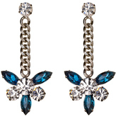 Montana Crystal with Chain Earrings