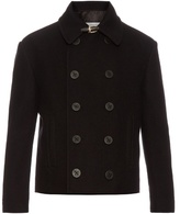Maison Margiela Double-breasted cropped wool pea coat