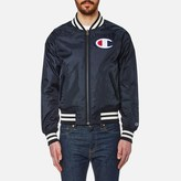 Champion Reversible Zipped Bomber Jacket Navy