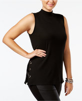 Soprano Trendy Plus Size Lace-Up Shell