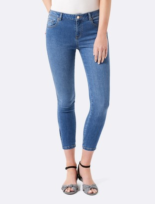 Forever New Hannah Low Rise Skinny Crop Jean - Mid Indigo - 14