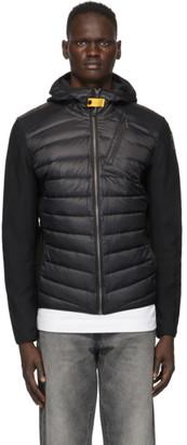 Parajumpers Black Down Nolan Hybrid Jacket
