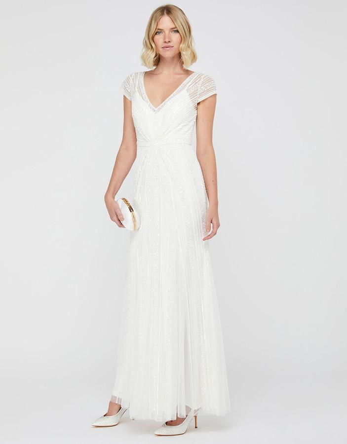 Under Armour Nora Bridal Embellished Maxi Dress Ivory