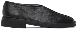 Lemaire Black Square Toe Slippers