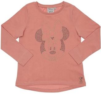 Wheat Minnie Printed Cotton Jersey T-shirt