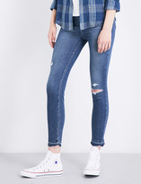 Paige Hoxton Crop released-hem skinny high-rise jeans