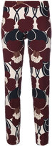 P.A.R.O.S.H. skinny floral print trousers