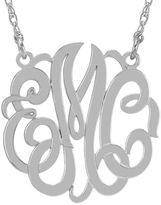 JCPenney FINE JEWELRY Personalized Sterling Silver 40mm Monogram Necklace