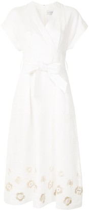 Rebecca Vallance Floris cotton midi dress