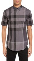 Burberry 'Fred' Trim Fit Short Sleeve Sport Shirt