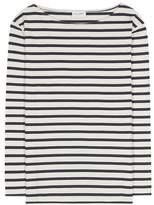 Saint Laurent Distressed striped cotton T-shirt