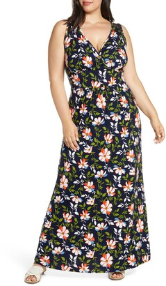 Loveappella Floral Halter Neck Maxi Dress