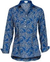 At Last... Soho Shirt-Cobalt With Blue Collar & Cuff