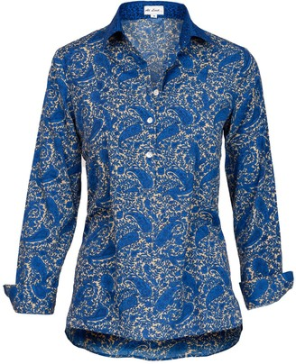 At Last... Soho Shirt-Cobalt With Blue Collar & Cuff