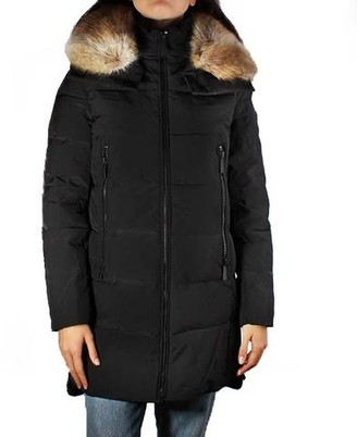 MICHAEL Michael Kors Mid-Length Coat With Faux Fur Collar