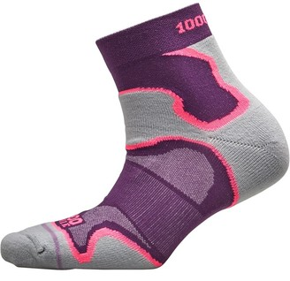 1000 Mile Womens Fusion Anklet Running Socks Purple