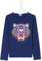Kenzo Tiger print T-shirt - kids - Cotton/Spandex/Elastane - 14 yrs