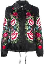 P.A.R.O.S.H. floral embroidered hooded jacket - women - Polyester - S