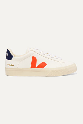Veja Campo Textured-leather Sneakers - White