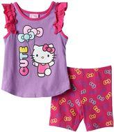 Hello Kitty Toddler Girl Flutter Tank Top & Bike Short Set