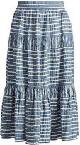 Ralph Lauren Seersucker Midi Skirt